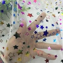 Colorful Rainbow Gradient Tulle Mesh Fabric for Party Dress Cloth Net Tissu Soft Pettiskirt Veil Ball Gown Tutu Gradual