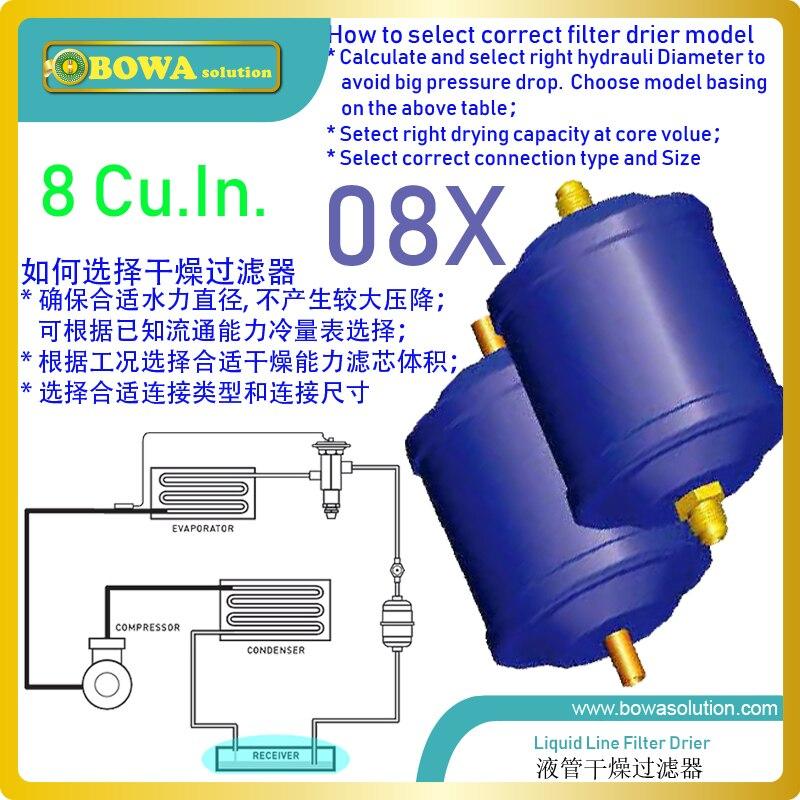 8 Cu. In охлаждающий фильтр-осушители установлены в EVI (усиленный впрыск пара) или эко-трубопроводы в тепловом насосном оборудовании title=