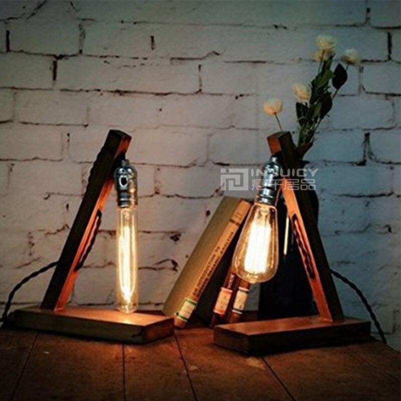 Retro Vintage E27 LED fa asztali lámpa asztali lámpa világítás - Beltéri világítás