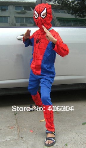 Free shipping  ,halloween party dress up costume,Children Spiderman costumes/super hero clothes,three sizes