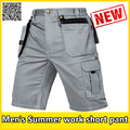 High quality men's durable summer  grey cargo shorts work trousers short pant mechanic construction workers's pant free shipping