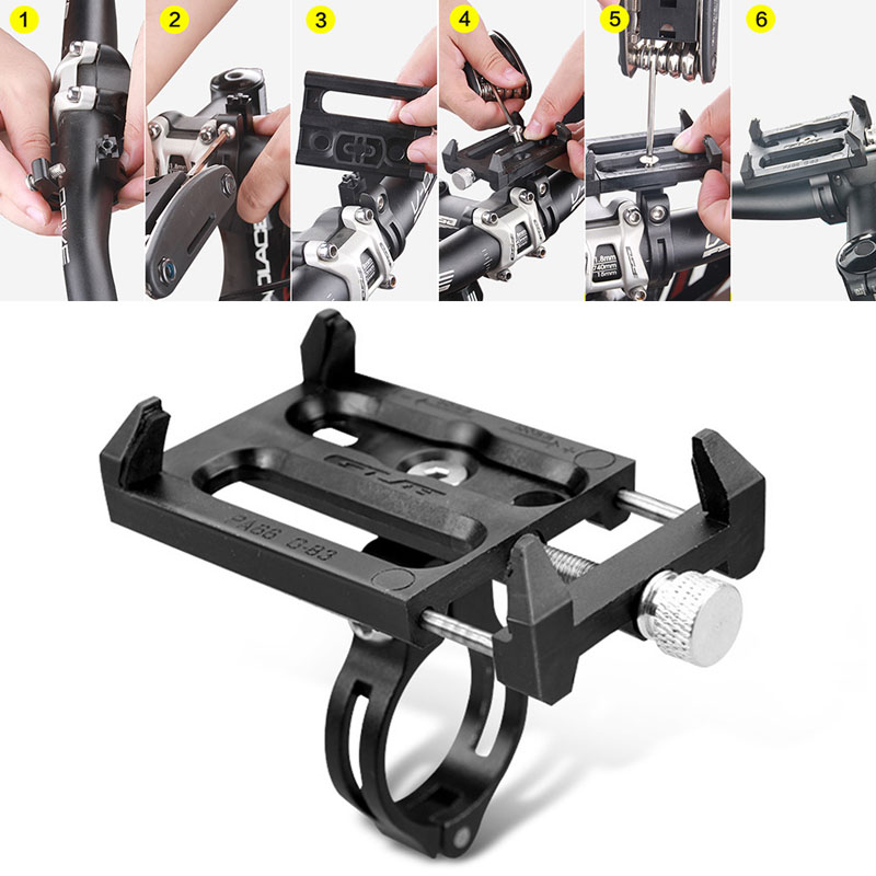 Metal Bike Bicycle Handlebar Holder Motorcycle Handle Phone Mount For iPhone Cellphone GPS