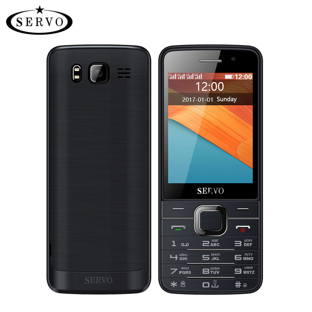 Quad SIM-kort 2,8 tum HD Big Screen 4 SIM-kort 4 standby-telefon med dual-kamera GPRS Bluetooth-vibration MP4 ryskt tangentbord