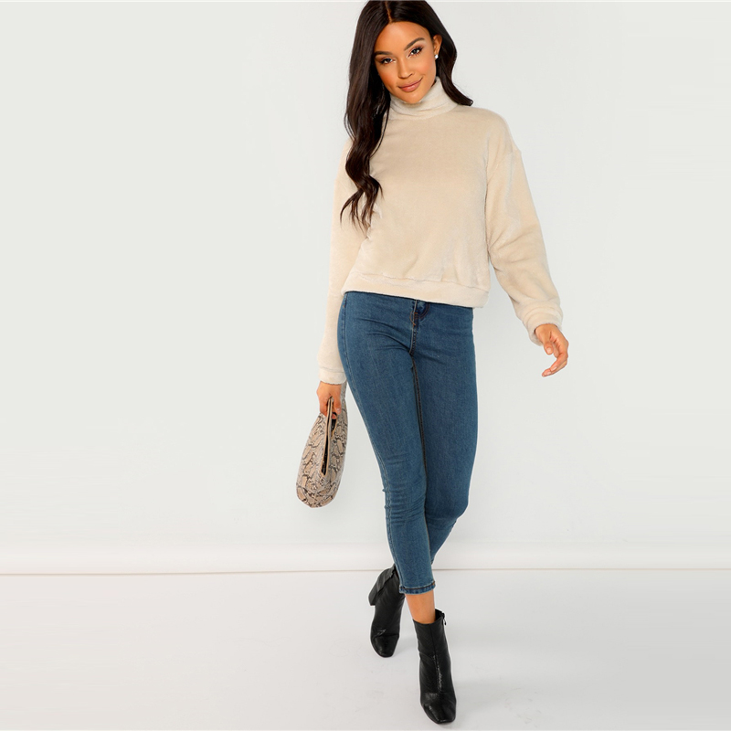 Jersey minimalista albaricoque de mujer moderna Paraíso de la Moda | PdM