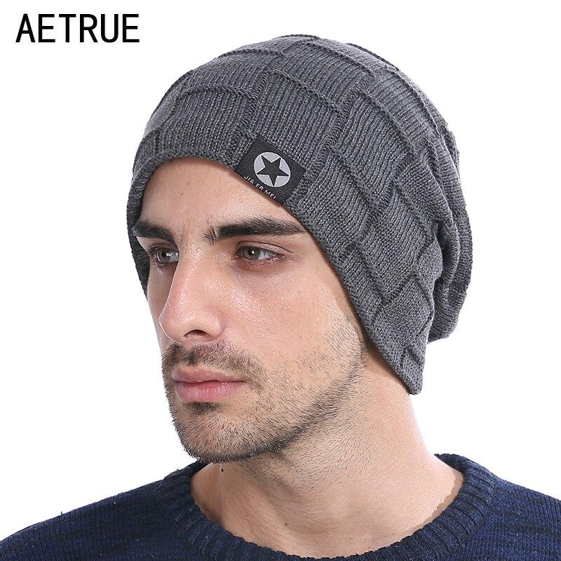 Winter Knit Hat   Skullies     Beanies   Winter Hats For Men Women Brand   Beanie   Men Caps Warm Baggy Gorras Bonnet Fashion Cap Hat 2018
