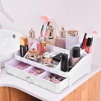 Cosmetic Jewelry Organizer Office Storage Drawer Desk Makeup Case Plastic Makeup Brush Box Lipstick Remote Control Holder