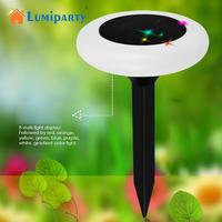 LumiParty 4PCS Outdoor Solar Powered LED Lawn Pin Lamp Waterproof Landscape Light Festival Yard Decoration