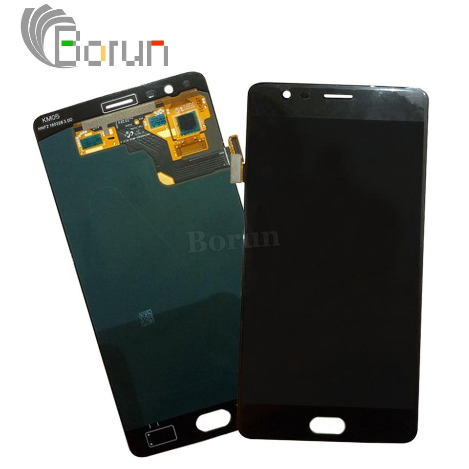 Para oneplus 3 lcd display + touch screen asamblea digitalizador del sensor de r