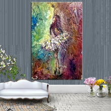 Top Quality Hand Painted Abstract Ballet Dancer Oil Painting On Canvas Modern Decorative Dancing Ready To Hang