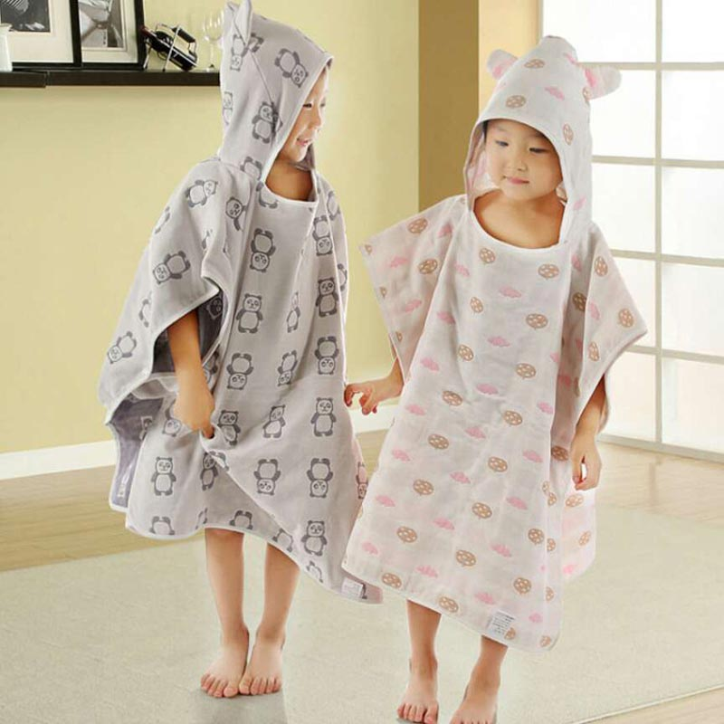 Summitkids Cotton 60*65cm Baby Towels Cute Bath Towel Protect Lovely Hooded Towel For Babies Cloak