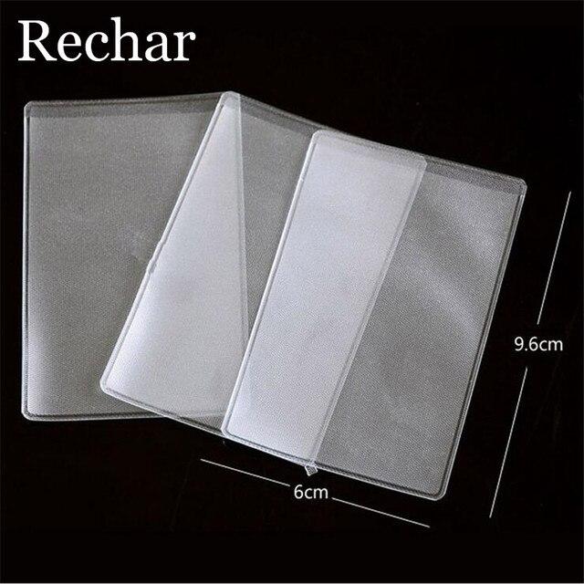Rechar 3PCS Transparent Business Credit Card Protective Bag Storage Bag Card Holder Bag PP Presentation Binder Folder