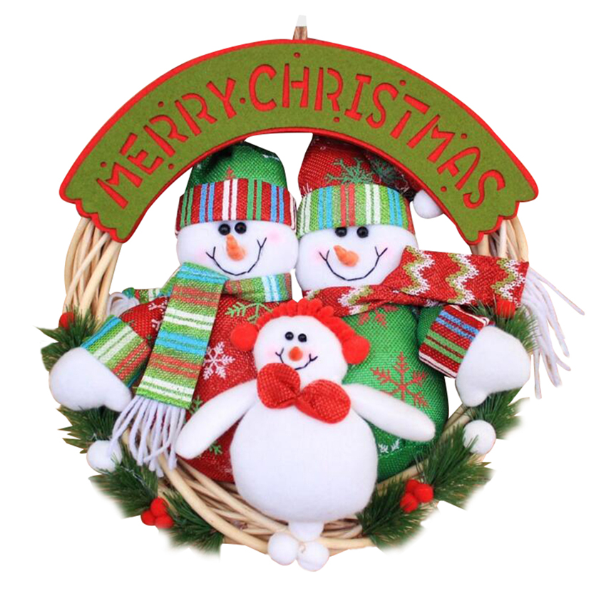Christmas decoration supplies christmas wreath door window for House decoration products