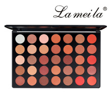 35 Color Pearlescent Matt Eyeshadow Orange Color Earth Color Eye Shadow Palette Not Easy To Remove Makeup Long-lasting