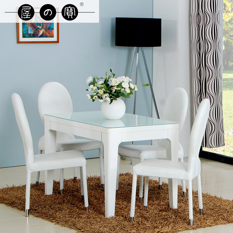 White Dining Table Ikea: Treasure House White Small Apartment Ikea Dining Table For