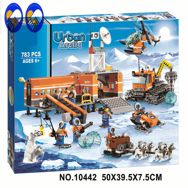 A Toy A Dream BELA 10442 Compatible Lepin City blocks Brick Arctic Base Camp 60036 Building Blocks Model Toys For Children bela 10439 compatible lepin city arctic helicrane building blocks policeman figure toys for children girls