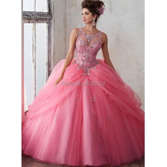519afc261 Vestidos de 15 años turquesa Rosa Vestidos de quinceañera 2019 barato Quinceanera  trajes de bola Vestido