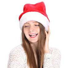 yooap Premium Christmas Hat - High quality red fluff and comfortable upscale plush adult Santa hat