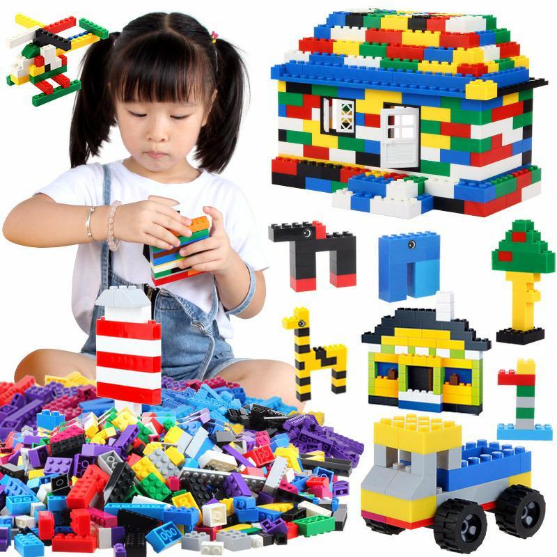 1000pcs Bulk Bricks Educational Children Toy Compatible with major brand blocks 10 Colors DIY Building Blocks Creative Bricks1000pcs Bulk Bricks Educational Children Toy Compatible with major brand blocks 10 Colors DIY Building Blocks Creative Bricks