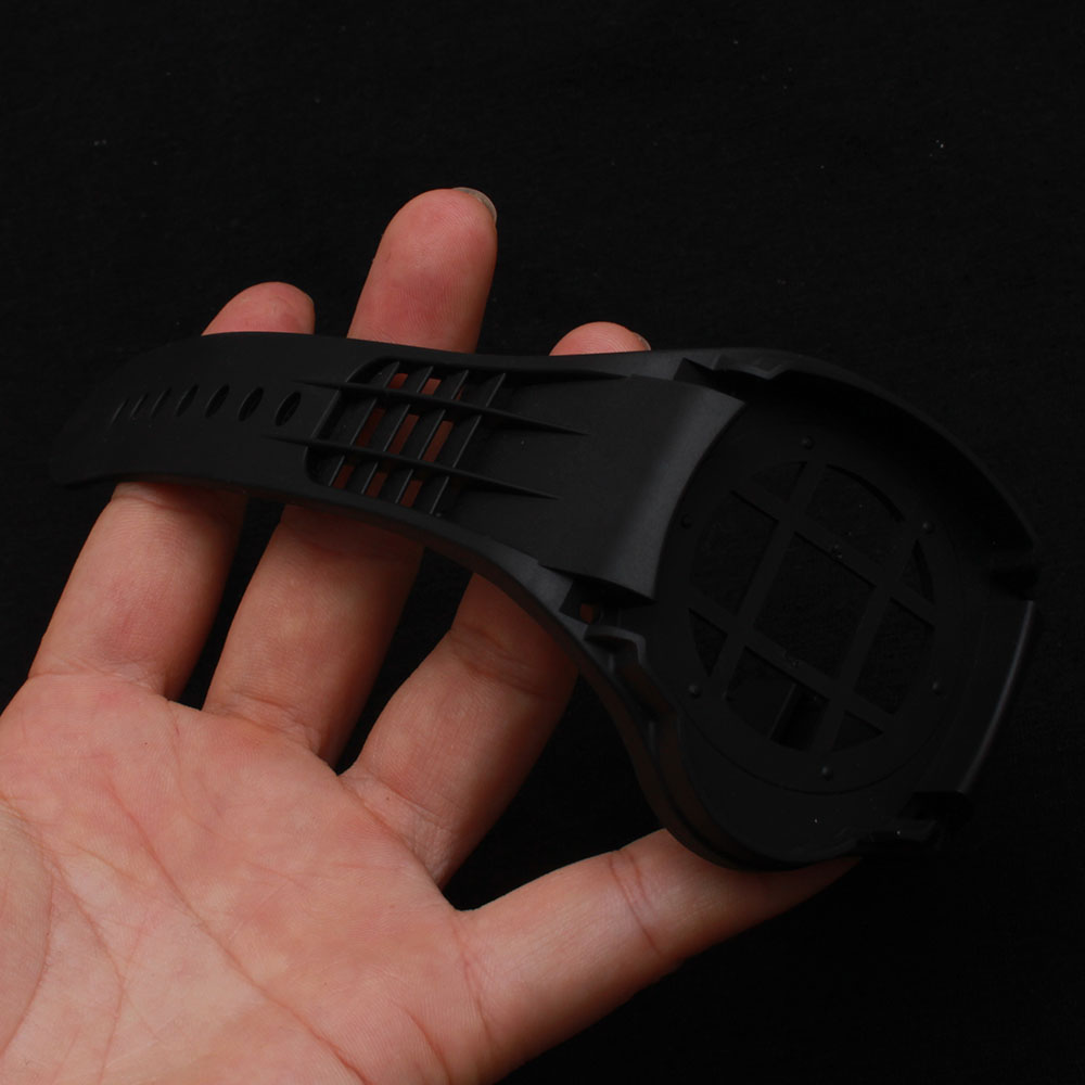 ФОТО New Arrival 2017 Black Rubber Silicone Watchband Frame fit 44mm sport Watch Case Men's Accessories Special Accessories strap hot