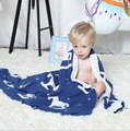 Детское Одеяло синий конь Милые Вязаные Плед Для Диван-Кровать Cobertores Мантас Покрывало Банные Полотенца Игровой Коврик Подарок