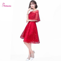 Short Evening Dresses A Line Boat Neck Elegant Party Gowns Robe De Soiree Vestido De Noche Tallas Grandes