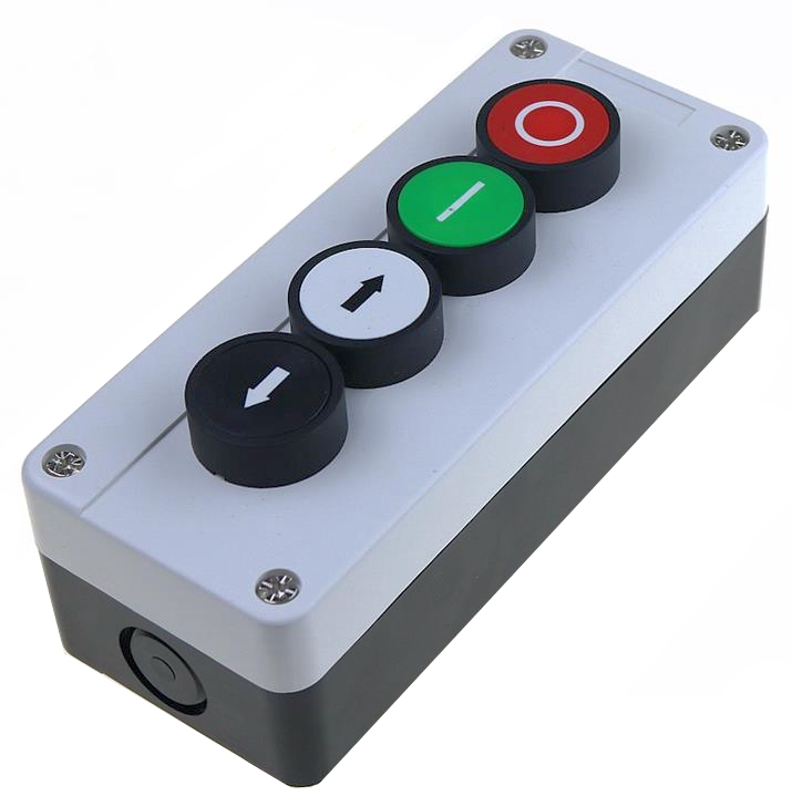 цена на 22mm button switch white control plastic waterproof switch box 4 hole with arrow stop button industrial control box 165 * 68 mm