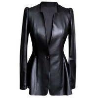 Streetwear Echte Echtem Leder Jacke Frühling Herbst Mantel Frauen Kleidung 2019 Koreanische Vintage Schaffell Mantel Frauen Tops ZT3374