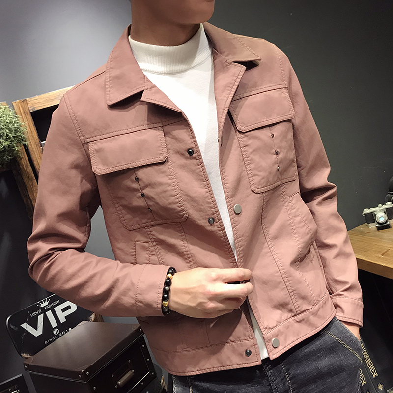 Streetwear Moto Biker Cool Wash Pu Rivet Locomotive Lapel Leather Men Jacket 2018 Autumn Loose Self-cultivation Male Coat M-3xl Packing Of Nominated Brand Faux Leather Coats Jackets & Coats