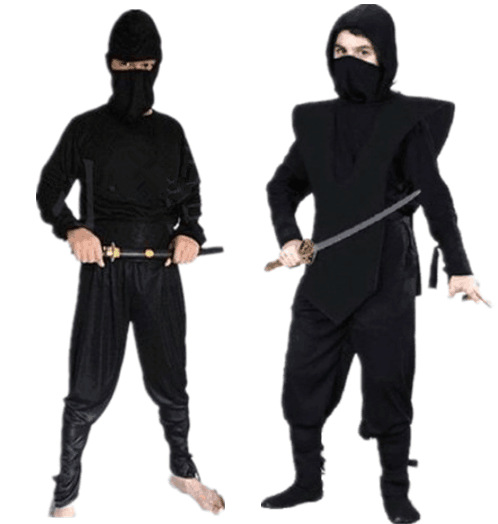 Halloween Show Black Clothes Knight-errant Thieves Nightwear Black Antique Nightwear Assassin Service Ninja Clothing