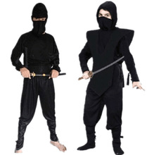 Halloween Show Black Clothes Knight-errant Thieves Nightwear Antique Assassin Service Ninja Clothing