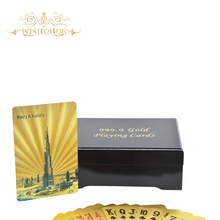 Nice Products Colorful Burj Dubai Back 24K Gold Playing Cards, Customized Playing Cards Wedding Favors