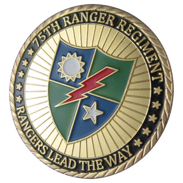 Us Army 75th Ranger Regiment Rangers Lead The Way 24k Gold