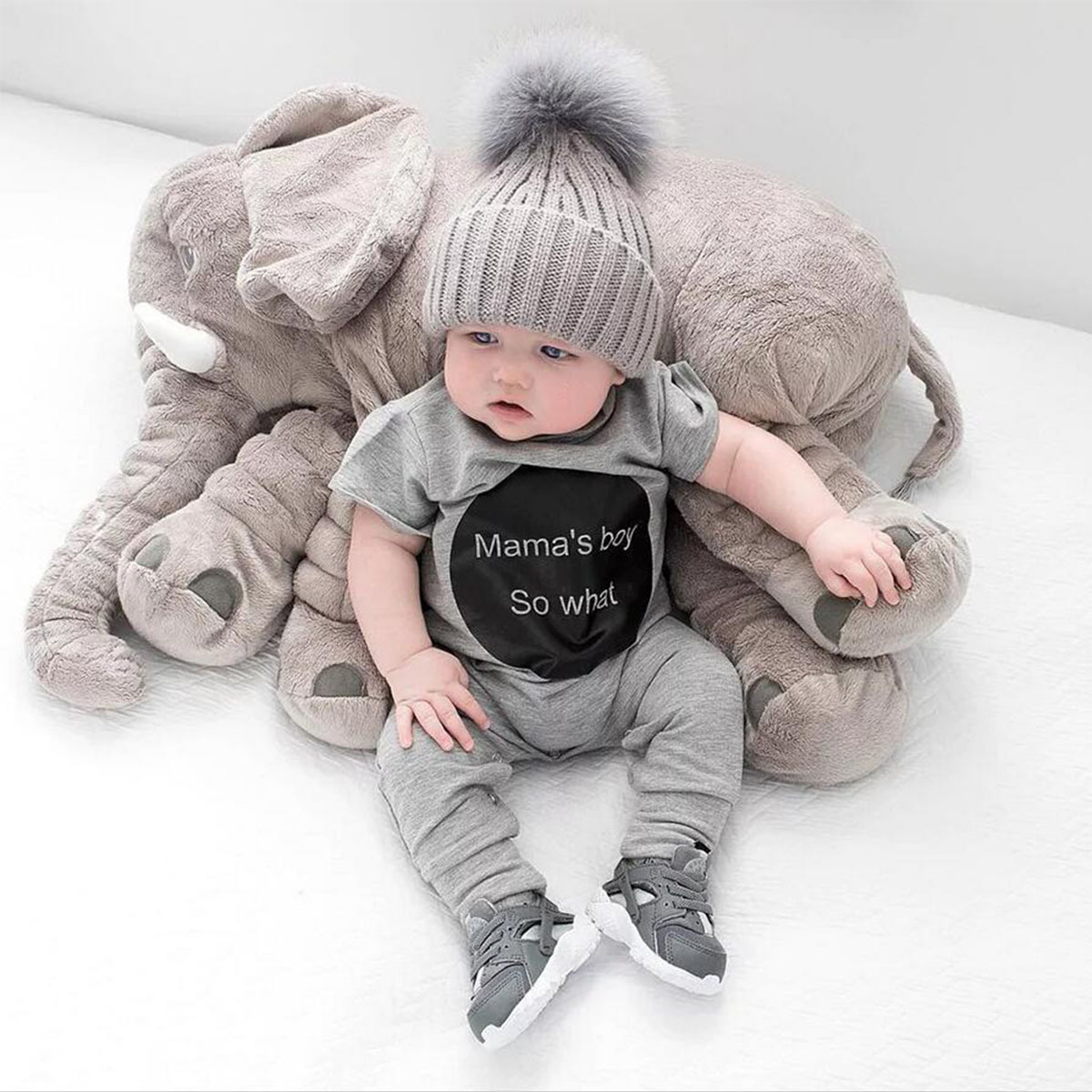 Summer 2018 mama's boy Import Baby Clothes cute Baby Black ...