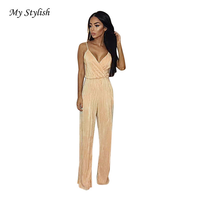 b6e84eedebf4 Womens Playsuit 2018 New Fashion Womens V-Neck Jumpsuit Ladies Evening  NightOut Party Playsuit High