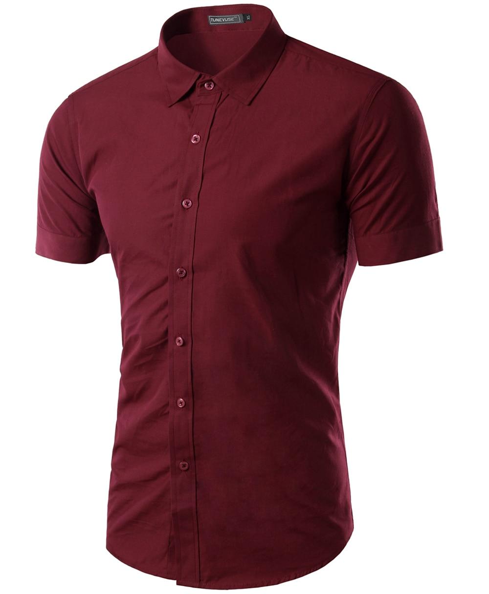 Free shipping 2015 mens slim fit unique neckline stylish for Mens dress shirt sizing