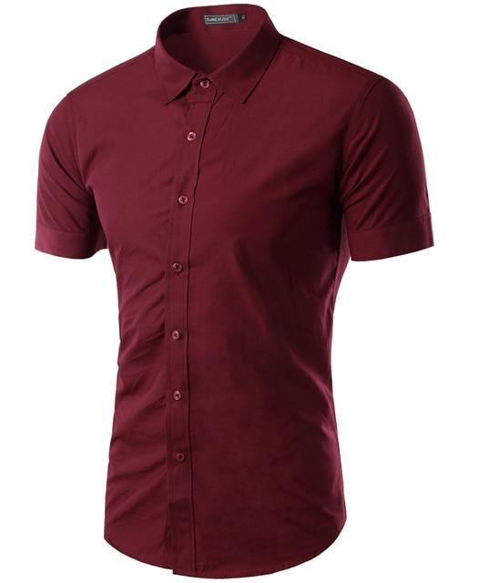 Frete grátis 2015 Mens Slim fit exclusivo decote do vestido curto elegante da luva dos homens camisas de vestido 17 colors, Tamanho : M-XXXL 6537