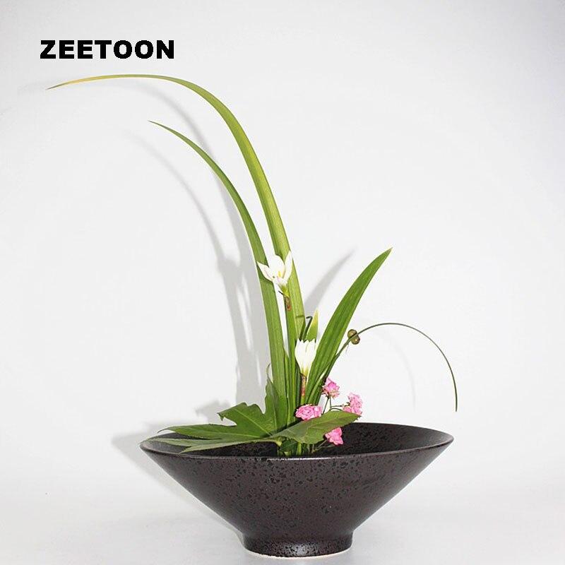 Zen Ikebana Hydroponic Flower Pot Coarse Pottery Tabletop