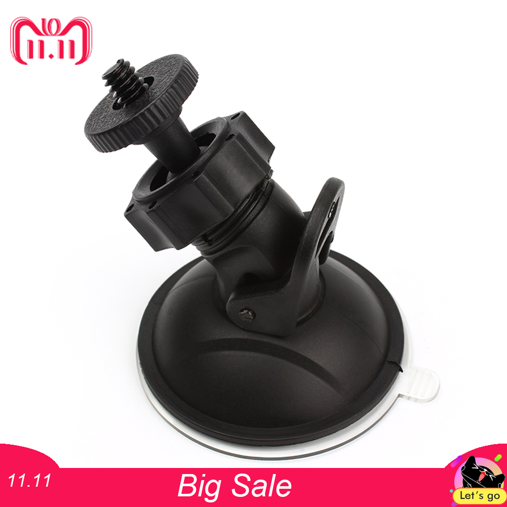 Car Mounts Mini Car Suction Cup Mount Tripod Auto Car DVR Holder DV GPS Camera Stand Bracket Phone Holder for Auto casual cat print ringer tee