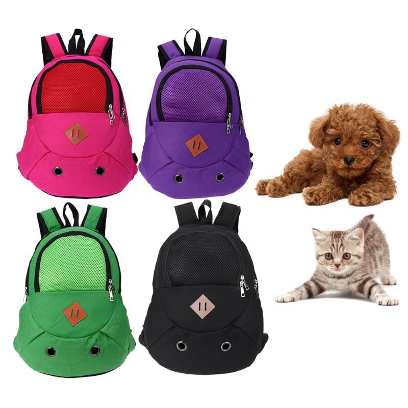 Pet Carrying Bag Dog Cat Carrier Shoulders Back Front Pack Dog Cat Small Animal Travel Tote Shoulder Bag Backpack