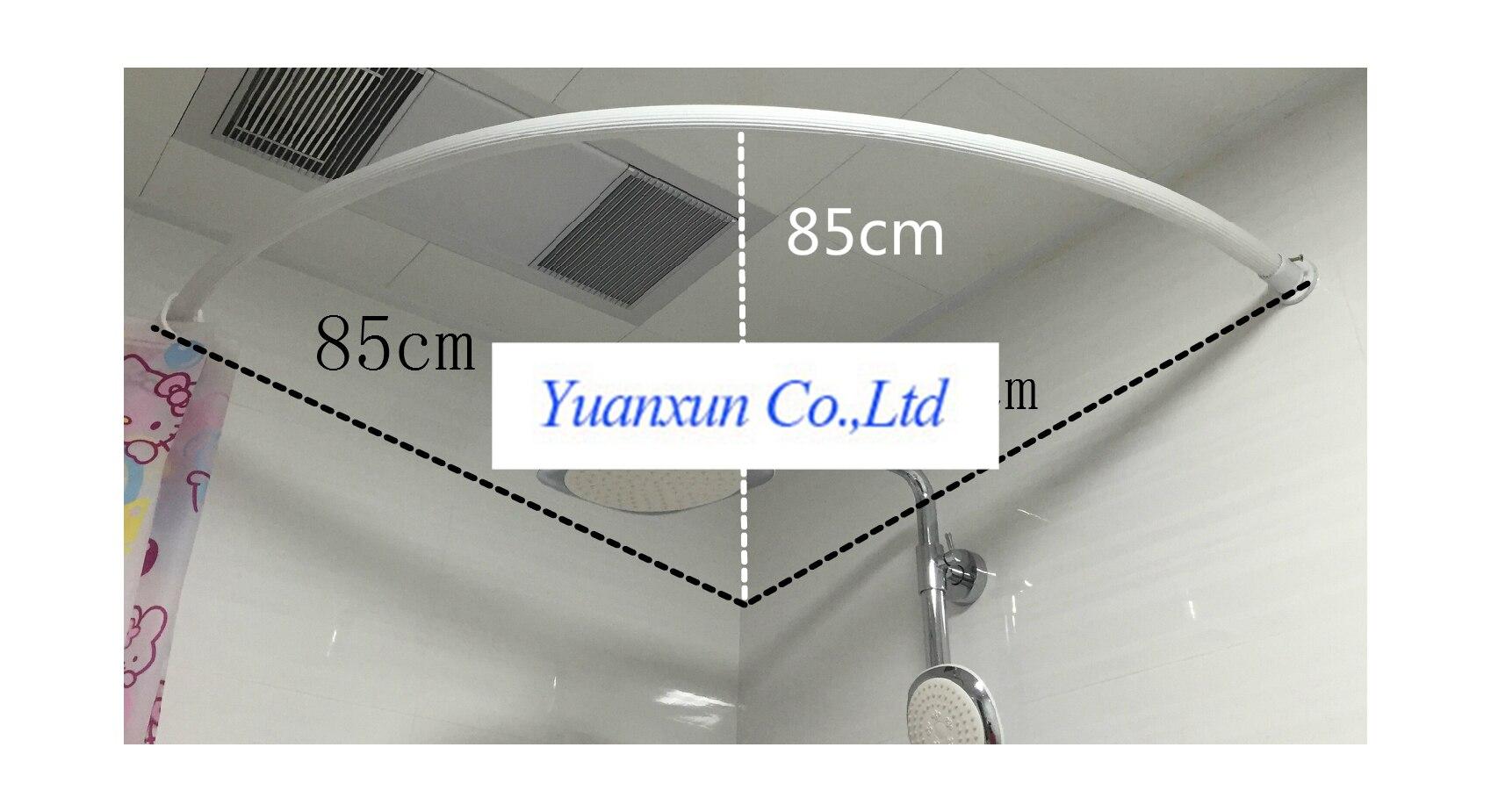 Barra de la cortina de ducha en forma de abanico c tipo recto ngulo recto esquina curva radian - Cortina bano curva ...