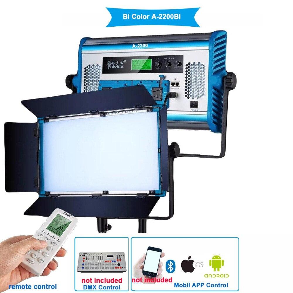 Yidoblo A-2200BI Display LCD Pro Bio-cor do diodo emissor de luz do painel de LED Lâmpada luz Suave Para A Fotografia Lâmpada Remoto APP conjunto de controle