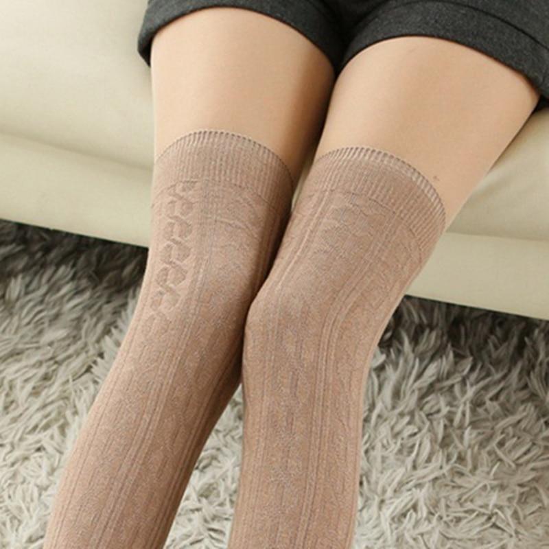 pick up best cheap fashion styles №Long Tube Socks for Women Knitted Stockings Art Knee Sock ...