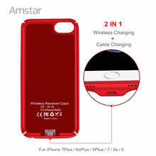 Amstar Qi Wireless Charger Receiver Case Cover 2 in 1 Wireless Charging & Cable