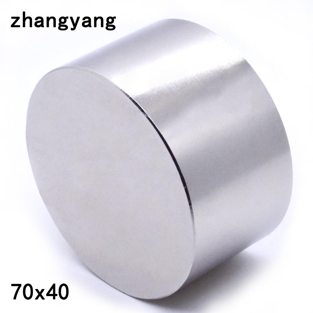 1 PCS N52 ímã De Neodímio 70X40mm metal gálio ímã poderoso super forte ímãs 70*40 rodada magnético permanente 70X40mm