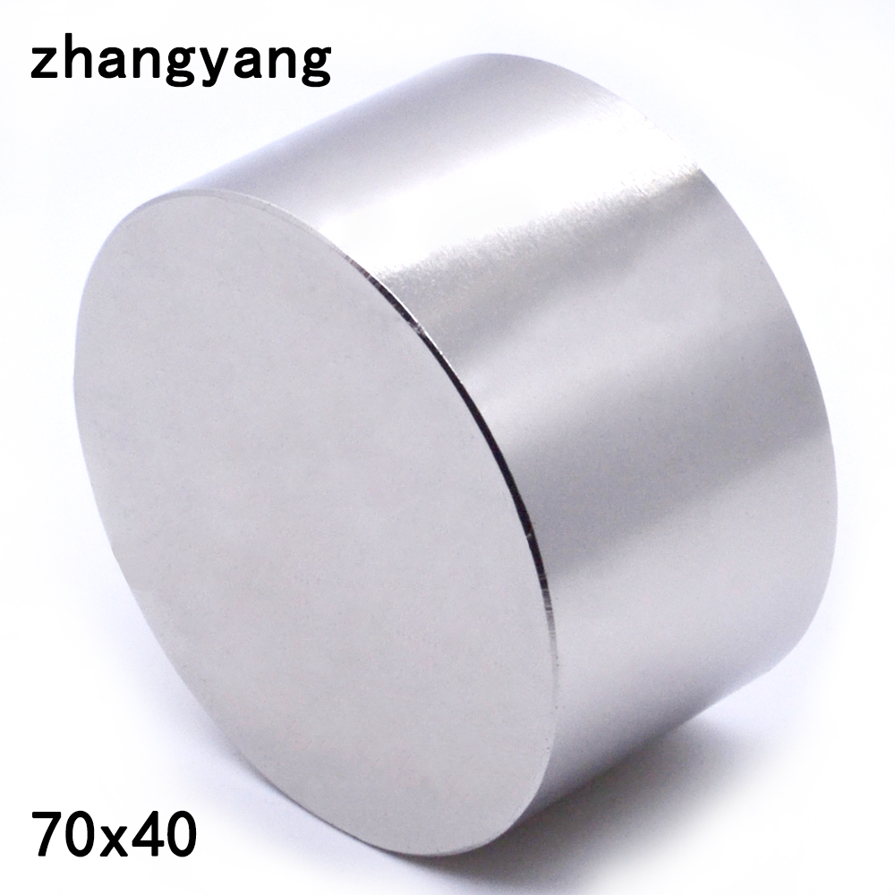 1 STÜCKE N52 neodym-magnet 70X40mm gallium metall super strong magnete 70*40 runde magnet leistungsstarke permanent-magnet 70X40mm
