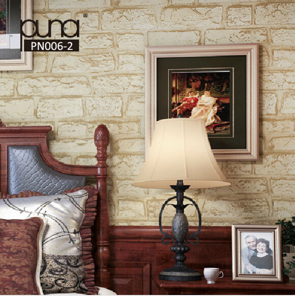 Wholesale papel de parede brick wallpaper rolls 3d wall paper for living room vinyl wallcoverings background 3D stone wallpaper retro stone brick wall vinyl wallpaper roll papel de parede 3d living room restaurant background home decor wall paper rolls 10m