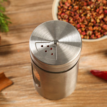 Stainless Steel Spice Shaker Jar Sugar Salt Pepper Herbs Toothpick Storage Bottle BBQ Spice Storage Bottle Cooking Seasoning Tin