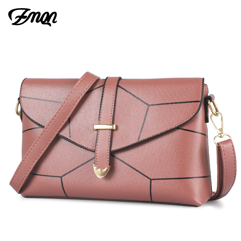 ZMQN Cheap Women Messenger Bags Small PU Leather Fashion Brand Crossbody Bags For Female Over Shoulder Bag 2018 Summer New B304