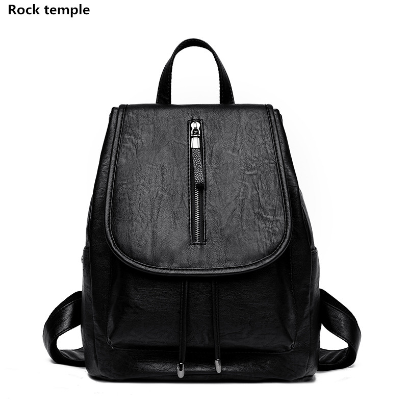 Women Backpack High Quality PU Leather Mochila Escolar School Bags For Teenagers Girls Top-handle Backpacks Herald Fashion 2018 zhierna brand women bow backpacks pu leather backpack travel casual bags high quality girls school bag for teenagers
