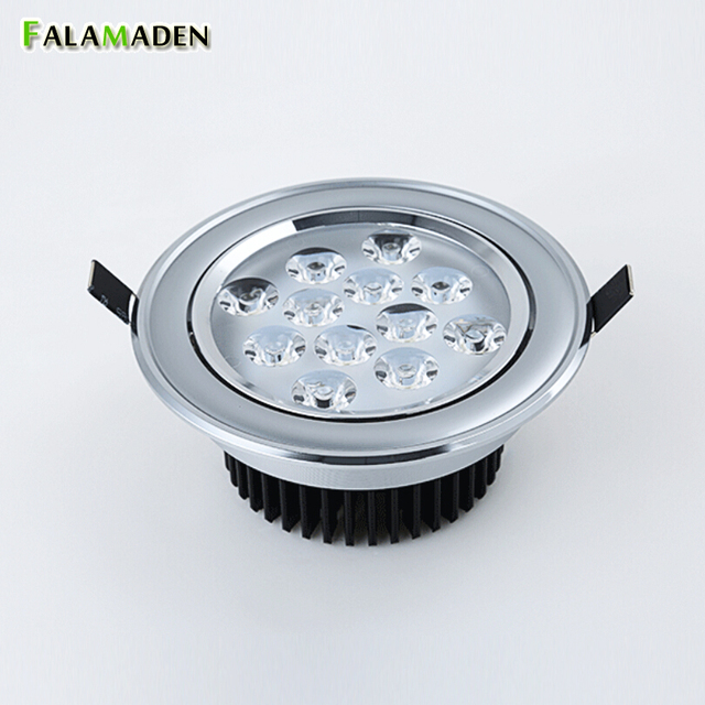 US $7 75 50% OFF|Top quality LED spotlight perfect chrome plating surface  good aluminum heat sink 3 12W Foyer Shop Super market dining room lamp-in